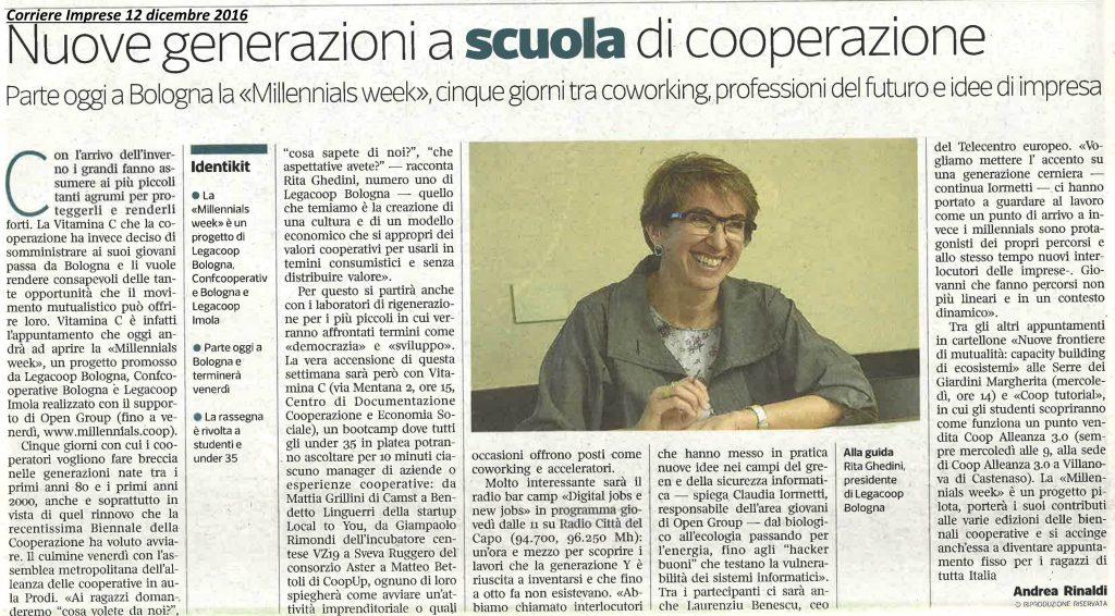 Corriere imprese nuove-generazioni-scuola-cooperazione_-millennials-week