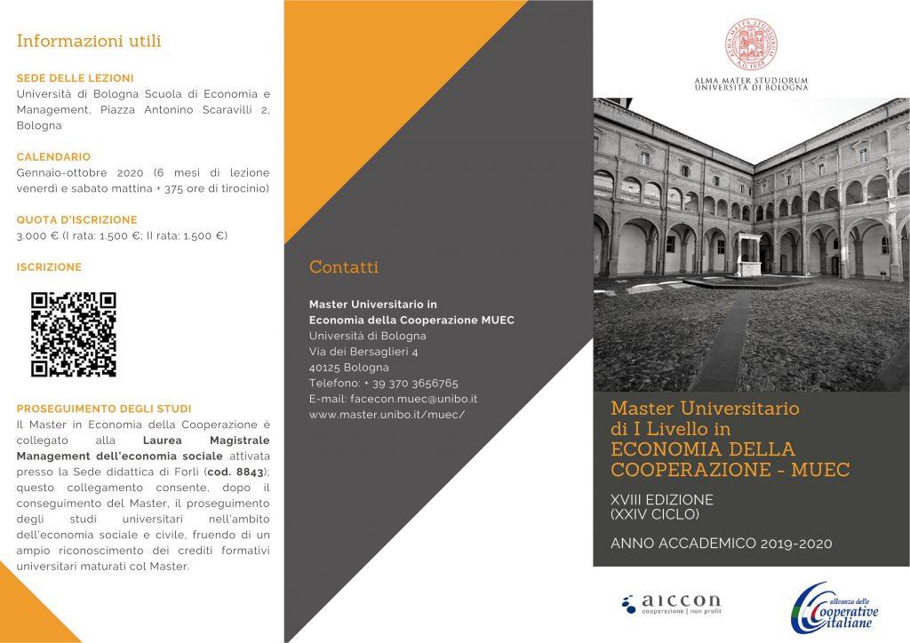 Calendario Lezioni Unibo.Master Universitario Di I Livello In Economia Della